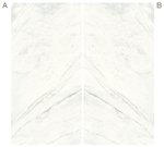 Elegant White Marble Effect Infinity Bookmatch Slabs