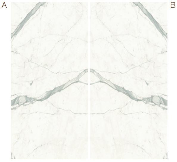 Statuario Marble Effect Infinity Bookmatch
