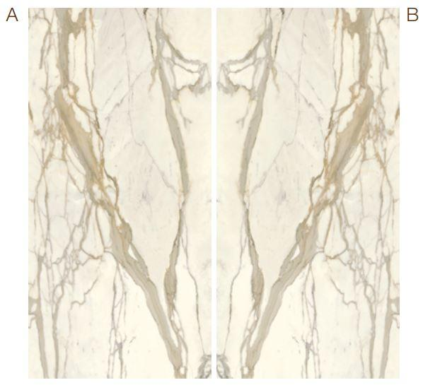 Calacatta Elite Marble Effect Infinity Bookmatch