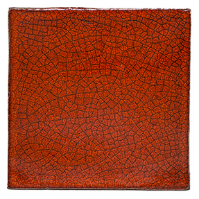 Crazed Terracotta Square Tiles - 010