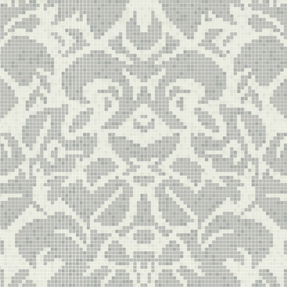 Abstract Damask B Glass Mosaic