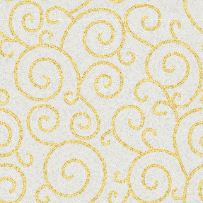 Artistic Minnagara Gold Glass Mosaic