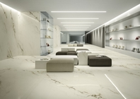 Imperial White Marble Effect Porcelain Infinity Tiles