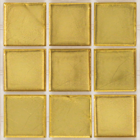 Decorum 074W Yellow Gold 24CT Glass Mosaic