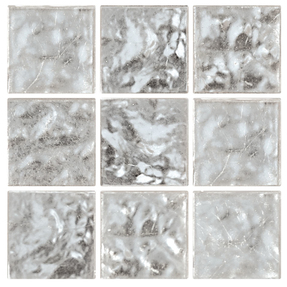 Decorum 077F White Gold 24CT Glass Mosaic