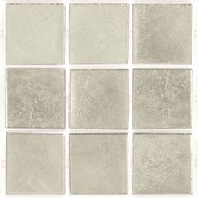 Decorum 078W Platinum White Glass Mosaic