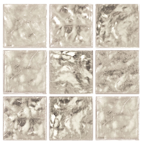 Decorum 079W Platinum White Glass Mosaic