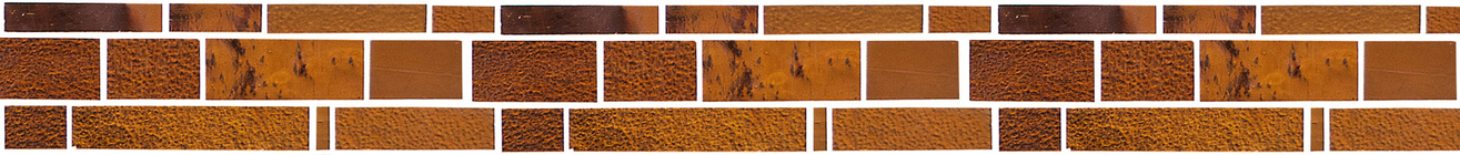 Jewel Amber Glass Mosaic Border