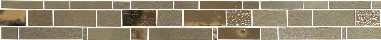 Jewel Bronzite Glass Mosaic Border