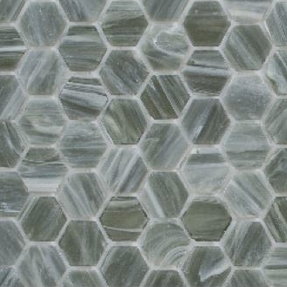 Senses 216 Hexagon Glass Mosaic