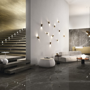 Pietra Grey Marble Effect Porcelain Infinity Tiles