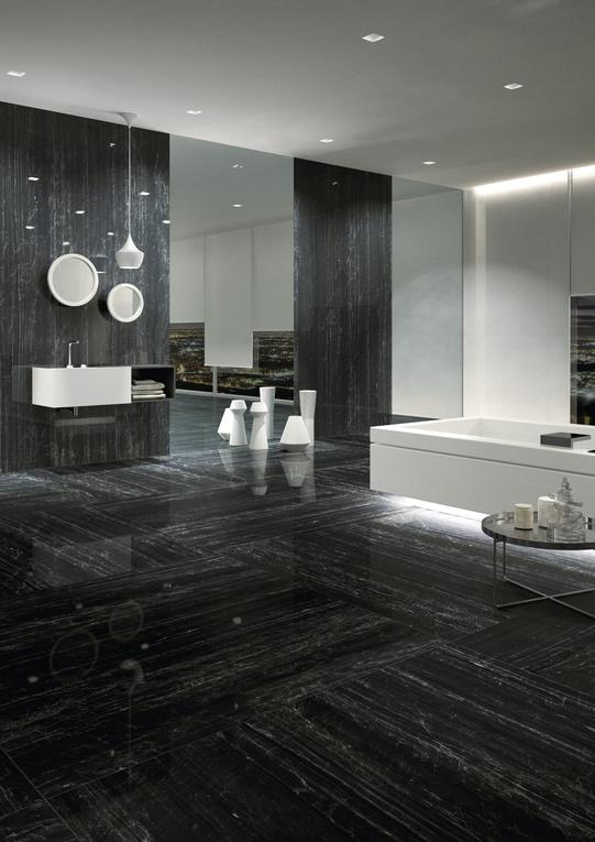 Nero Supremo Marble Effect Infinity Tiles _2_