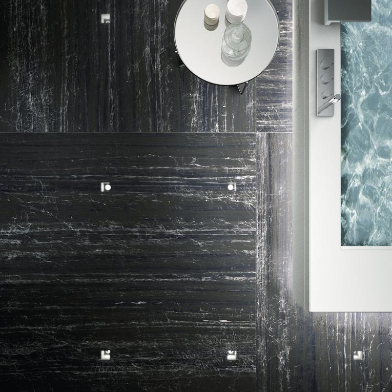 Nero Supremo Marble Effect Infinity Tiles _3_