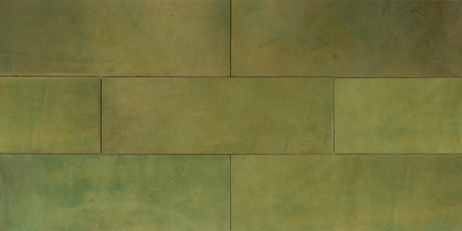Natural Leather Tiles - Olive 1