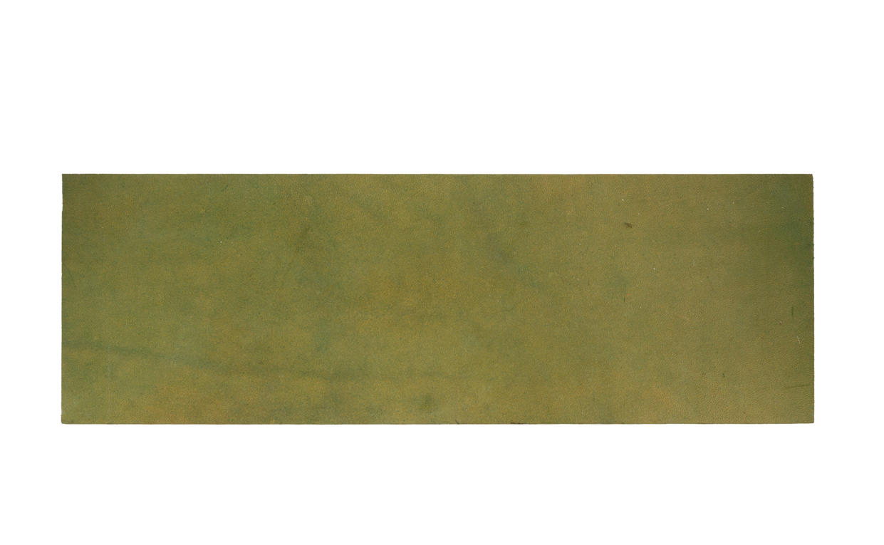 Natural Leather Tiles - Olive 2