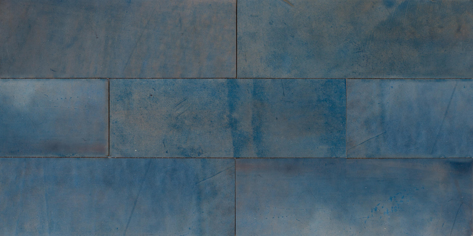 Natural Leather Tiles - Cobalt 1