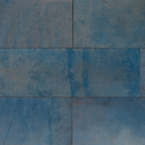 Natural Leather Tiles - Cobalt
