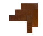 Natural Leather Tiles - Chestnut 3