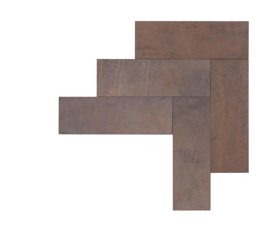 Natural Leather Tiles - Dove Grey 3