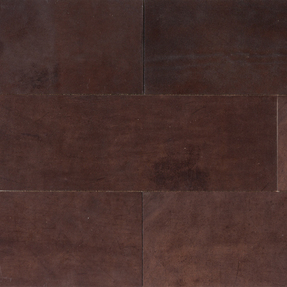 Natural Leather Tiles - Chocolate