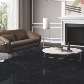 Nero Marquina Marble Effect Porcelain Infinity Tiles