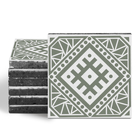 Magma Anais Pattern Tiles - Olive
