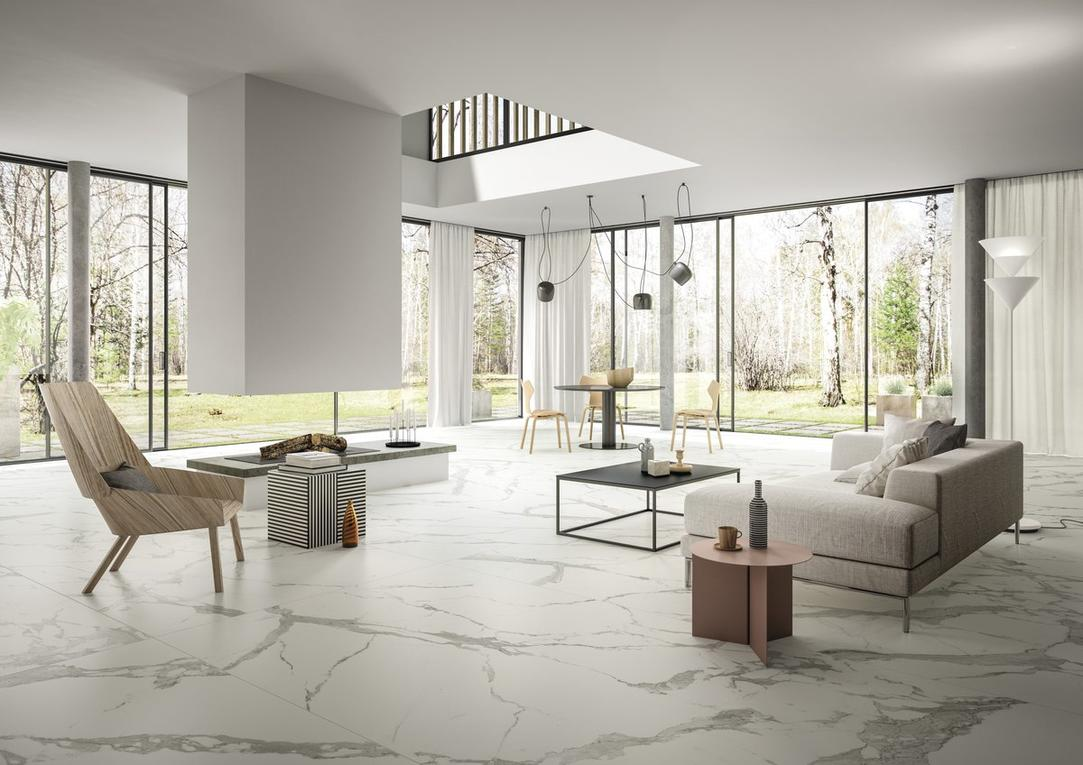 Calacatta Light Marble Effect Infinity Tiles _1_