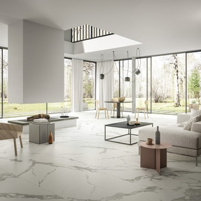 Calacatta Light Marble Effect Porcelain Infinity Tiles