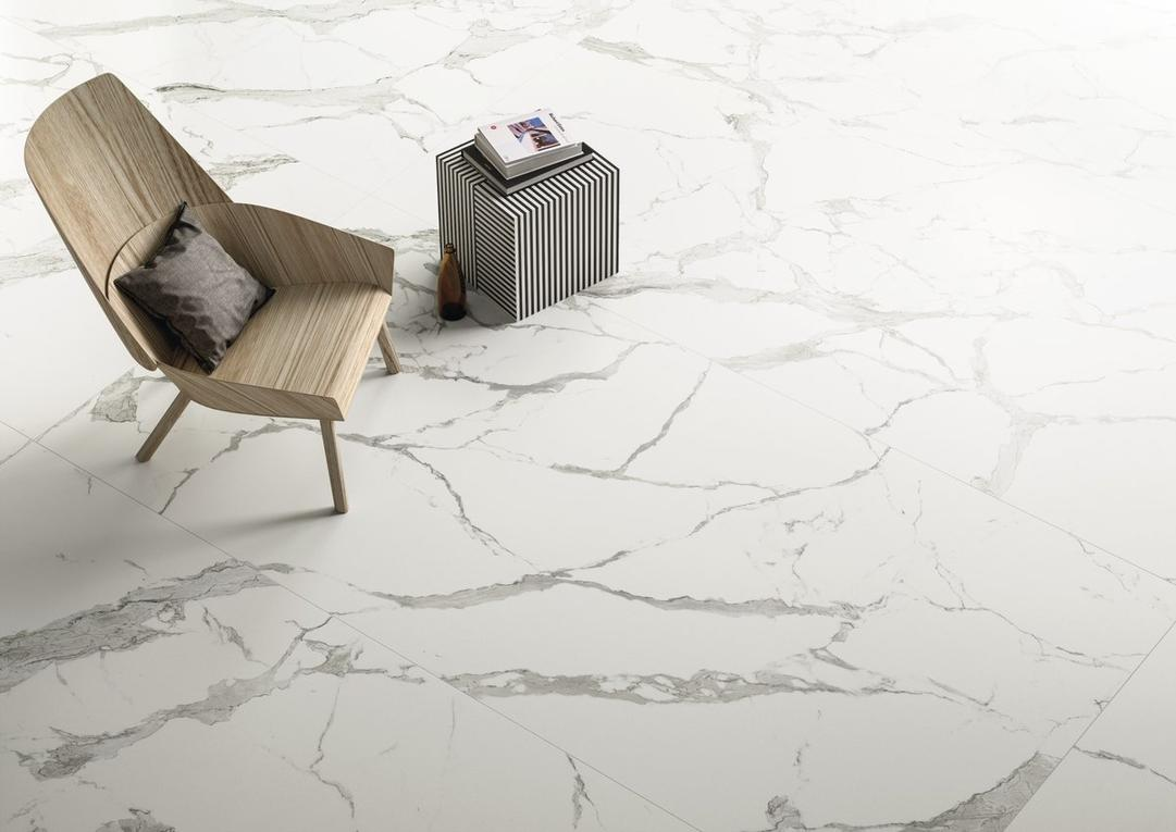 Calacatta Light Marble Effect Infinity Tiles _2_