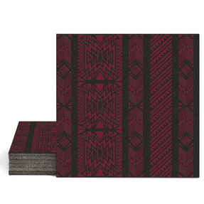 Magma Anive A Pattern Tiles - Burgundy