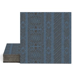 Magma Anive B Pattern Tiles - Denim