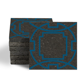 Magma Eleos A Pattern Tiles - Cobalt