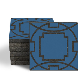 Magma Eleos B Pattern Tiles - Denim