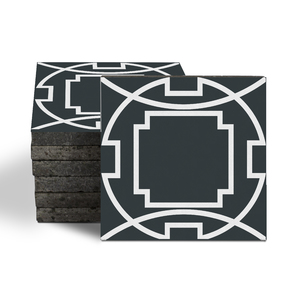 Magma Eleos B Pattern Tiles - Anthracite