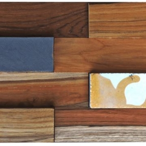 Natural Reclaimed Boat Wood & Cement Tiles A Mosaic