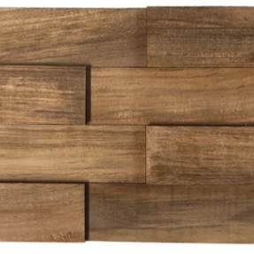 Natural Teak Polished Mosaic