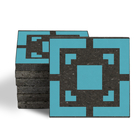 Magma Eneride Pattern Tiles - Turquoise