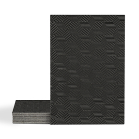 Magma Gea Pattern Tiles - Nero