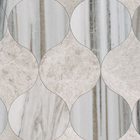Skyline & Silvero Marble Winter Leaf Pattern Tiles
