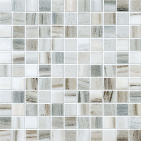 Skyline Marble Square Stack Bond Pattern Mosaic