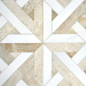 Diana Royal & Dolomite Marble Rubicon Pattern