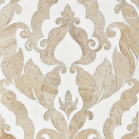 Diana Royal & Dolomite Marble Rumi Pattern