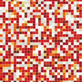 Shading Blend Fire Glass Mosaic