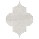 Thala Grey Limestone Arabesque Pattern Tiles