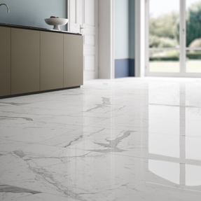 Statuario Marble Effect Porcelain Tiles