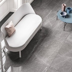 Pietra Grey Marble Effect Porcelain Tiles